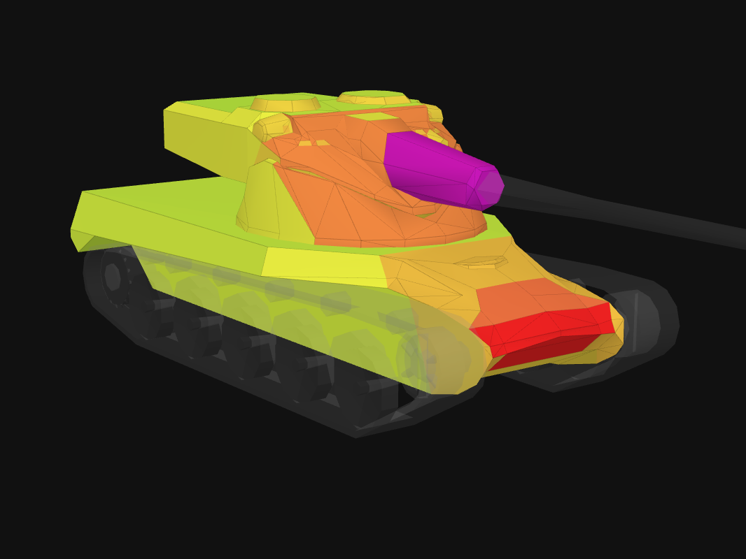 Front armor of AMX 50 B in World of Tanks: Blitz