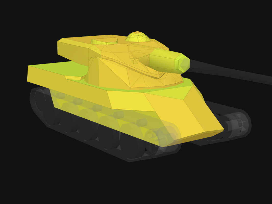 Front armor of AMX 50 120 in World of Tanks: Blitz