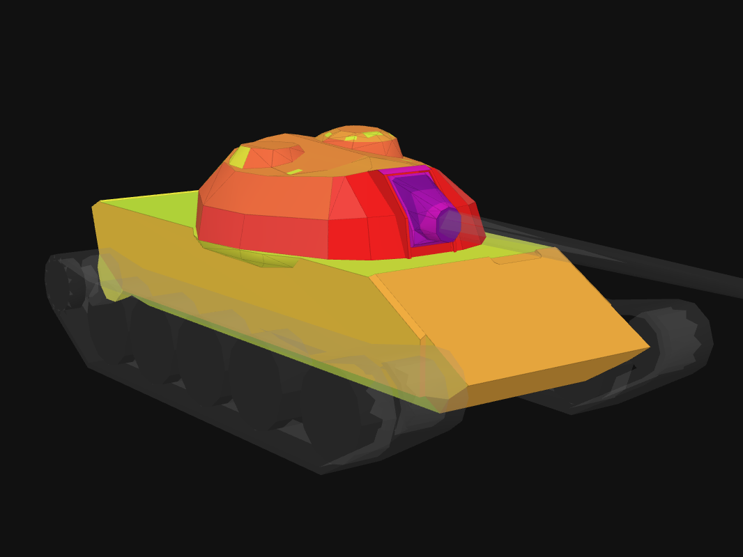 Front armor of Type 59 in World of Tanks: Blitz