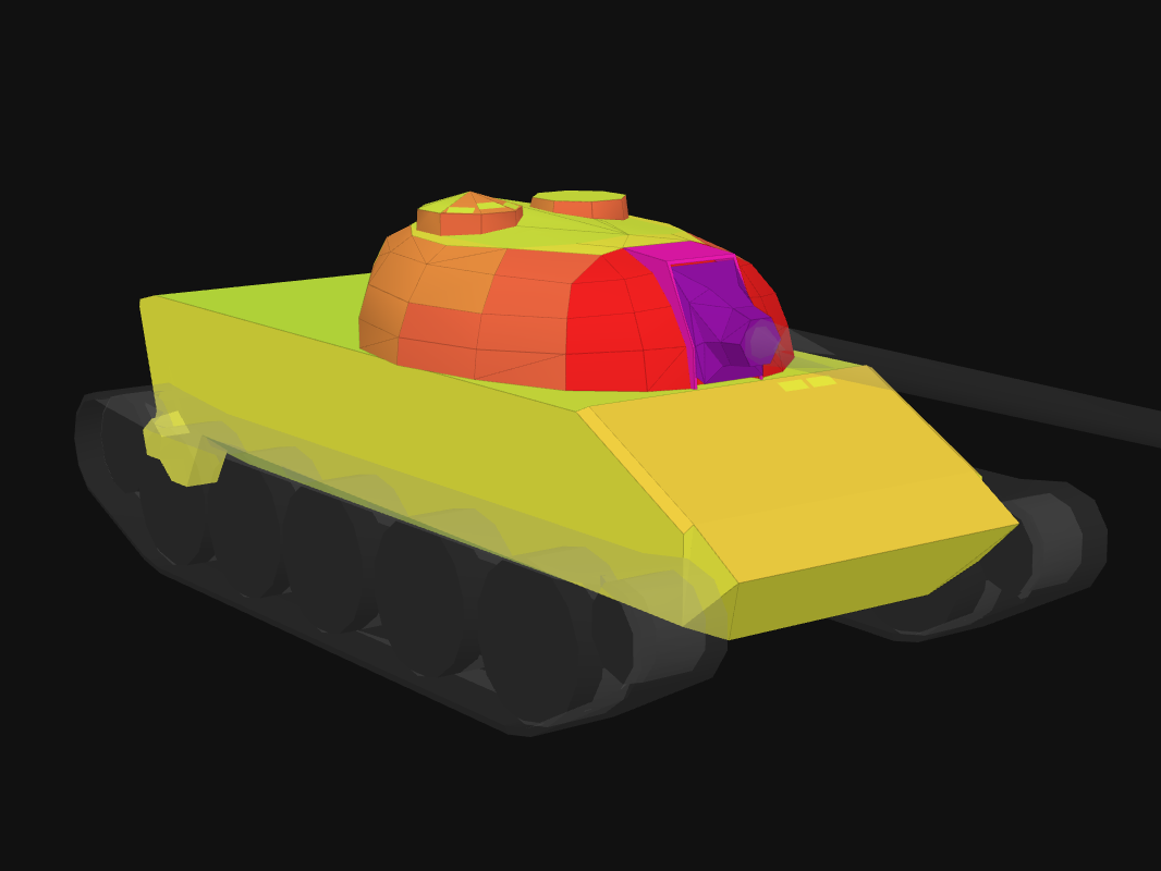 Front armor of T-34-2 in World of Tanks: Blitz