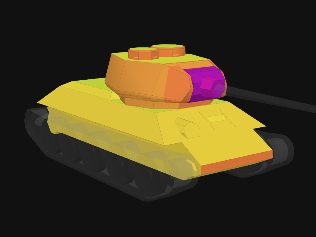 Front armor of Type 58 in World of Tanks: Blitz