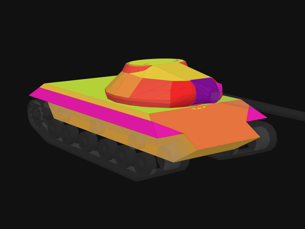 Front armor of WZ-112-2 in World of Tanks: Blitz