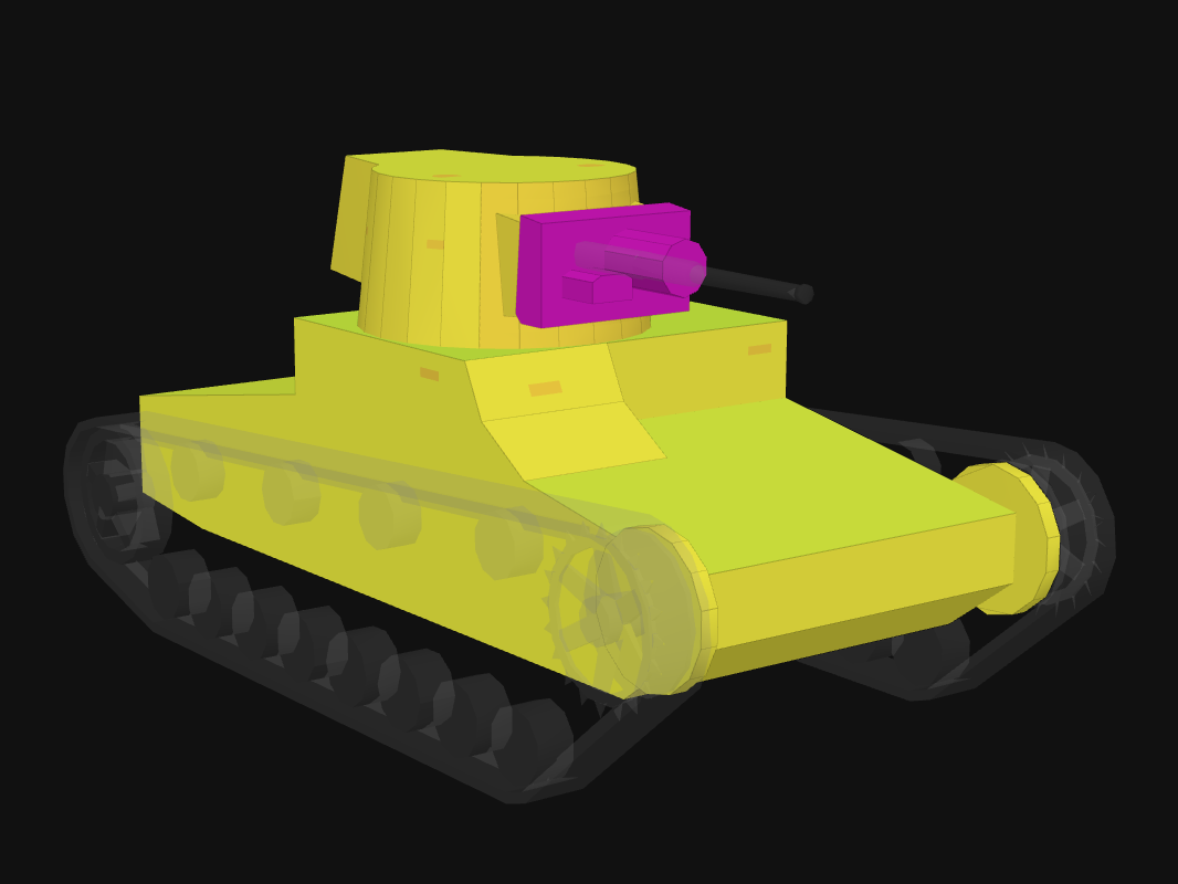 Front armor of Vickers Mk. F in World of Tanks: Blitz
