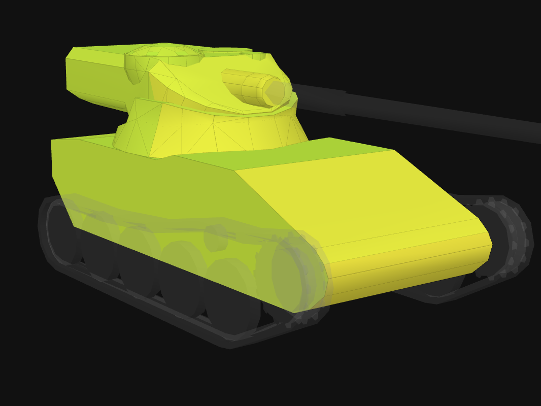 Front armor of AMX 13 57 in World of Tanks: Blitz