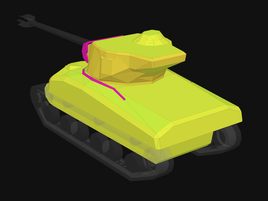 Rear armor of M4A1 Rev. in World of Tanks: Blitz