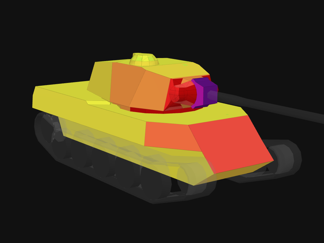 Front armor of AMX M4 49 in World of Tanks: Blitz