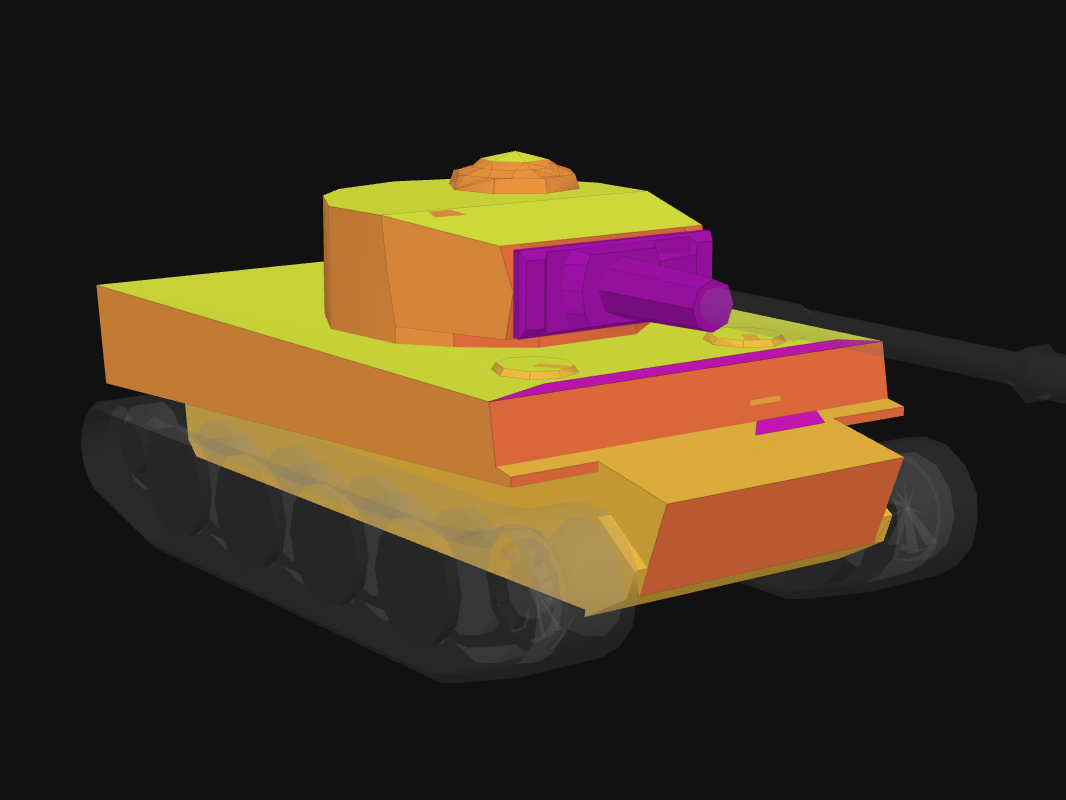 Front armor of Tiger 131 in World of Tanks: Blitz
