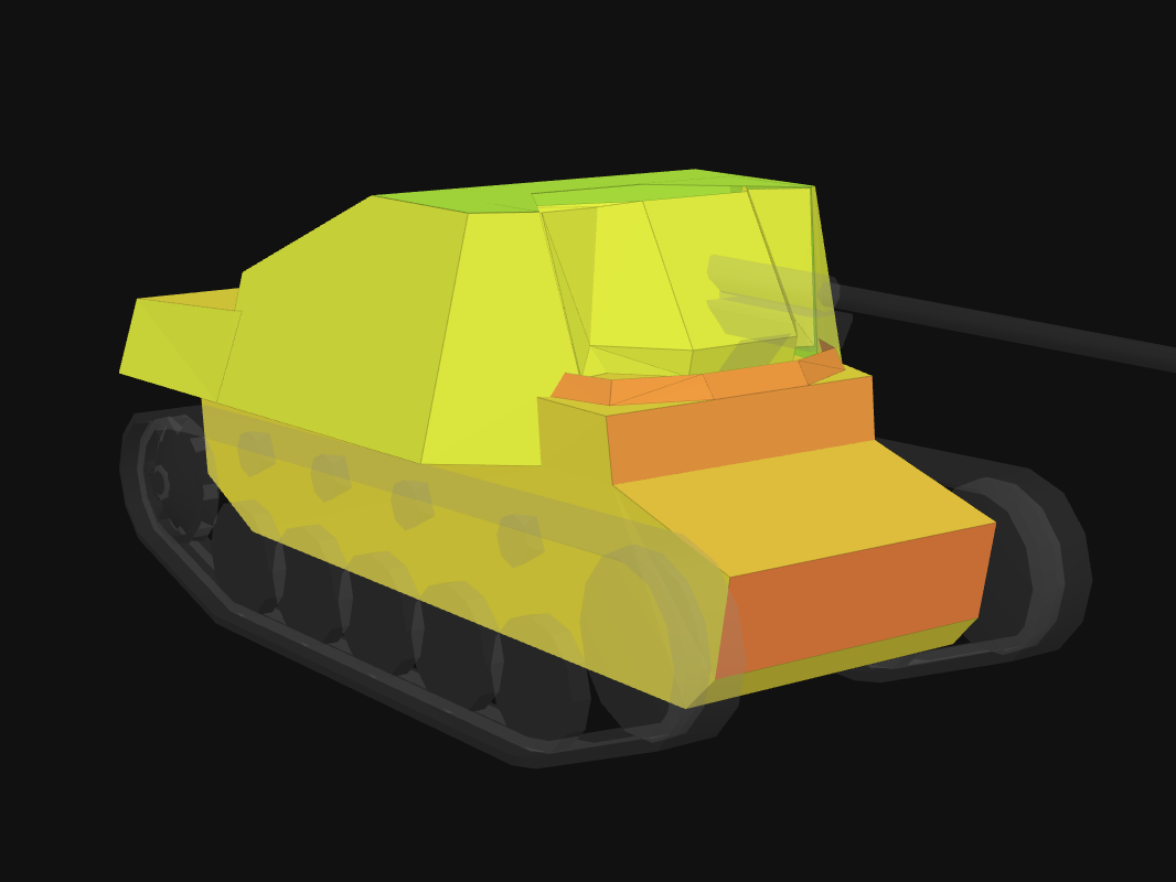 Front armor of Marder II in World of Tanks: Blitz