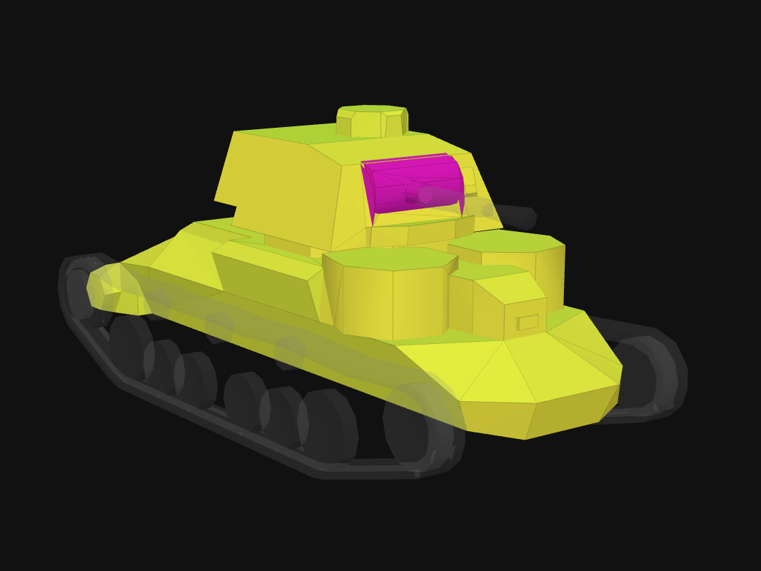 Front armor of Cruiser I in World of Tanks: Blitz