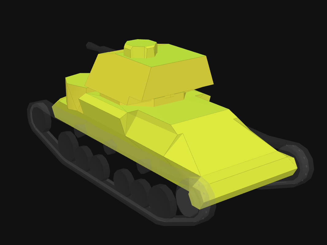 Rear armor of Cruiser I in World of Tanks: Blitz