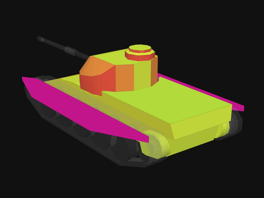 Rear armor of FV4202 in World of Tanks: Blitz