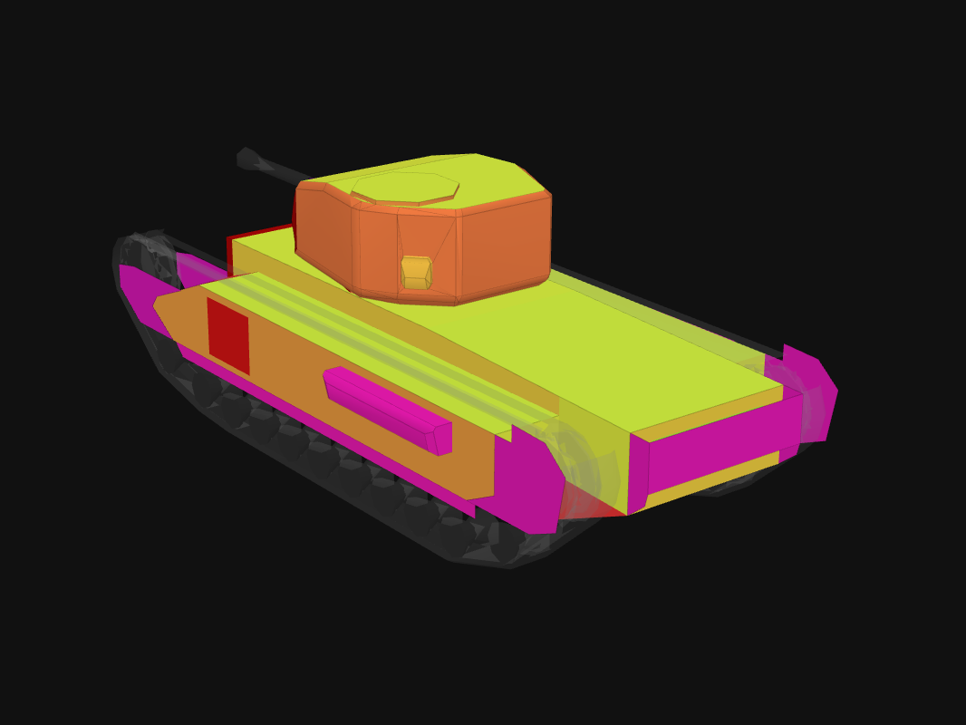 Rear armor of Churchill Mk. VI in World of Tanks: Blitz