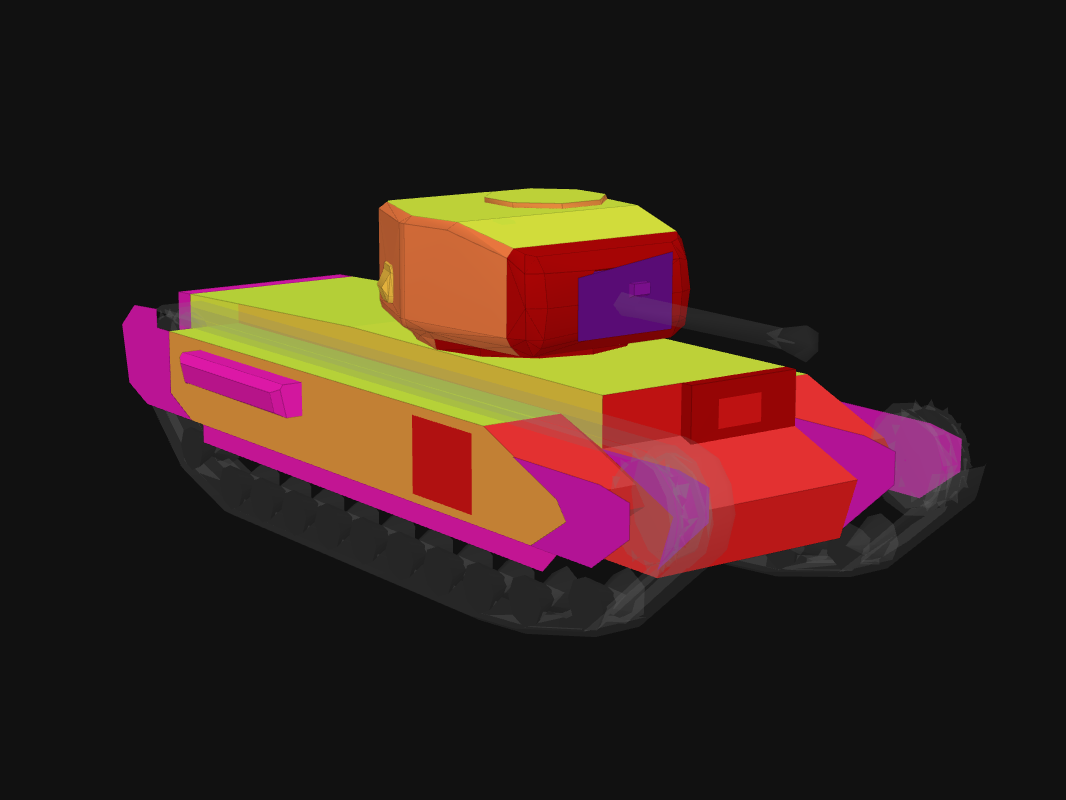 Front armor of Churchill Mk. VI in World of Tanks: Blitz