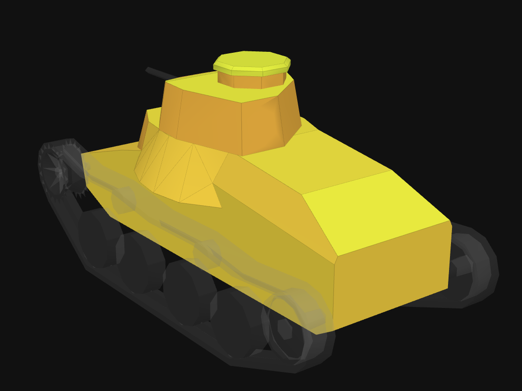 Rear armor of Ha-Go in World of Tanks: Blitz