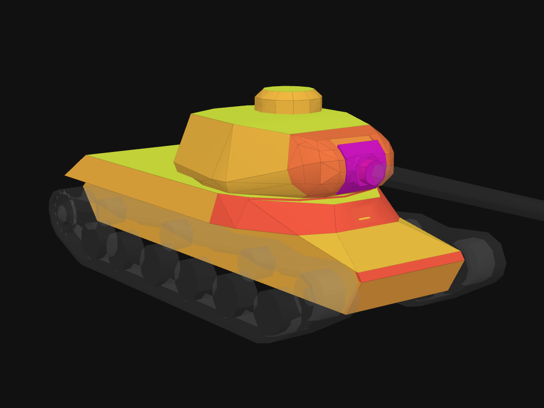 Front armor of IS in World of Tanks: Blitz