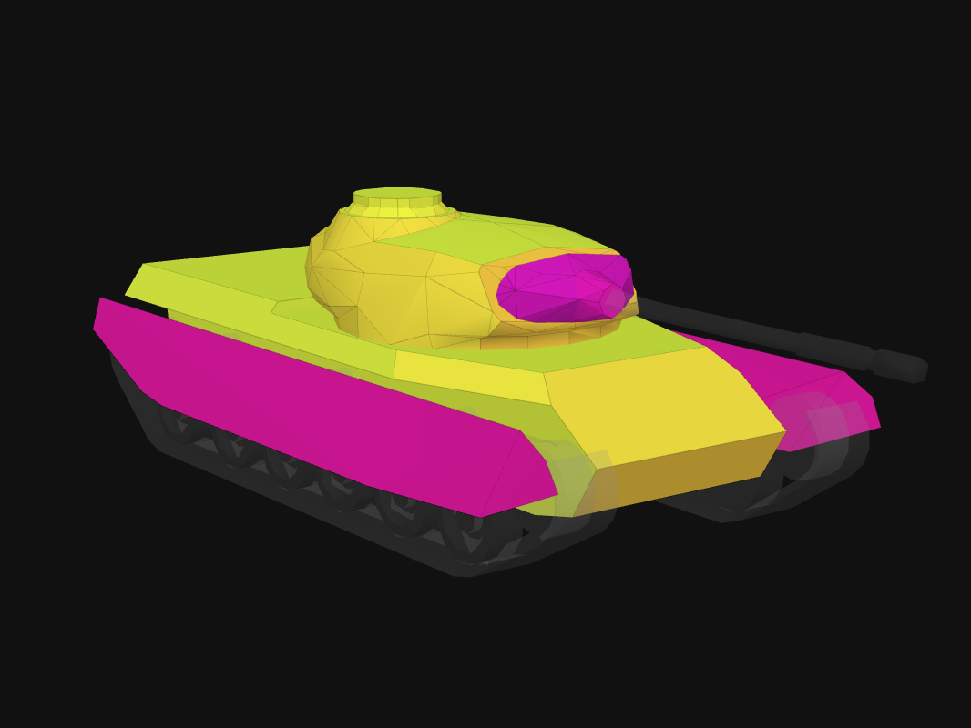 Front armor of Progetto 46 in World of Tanks: Blitz