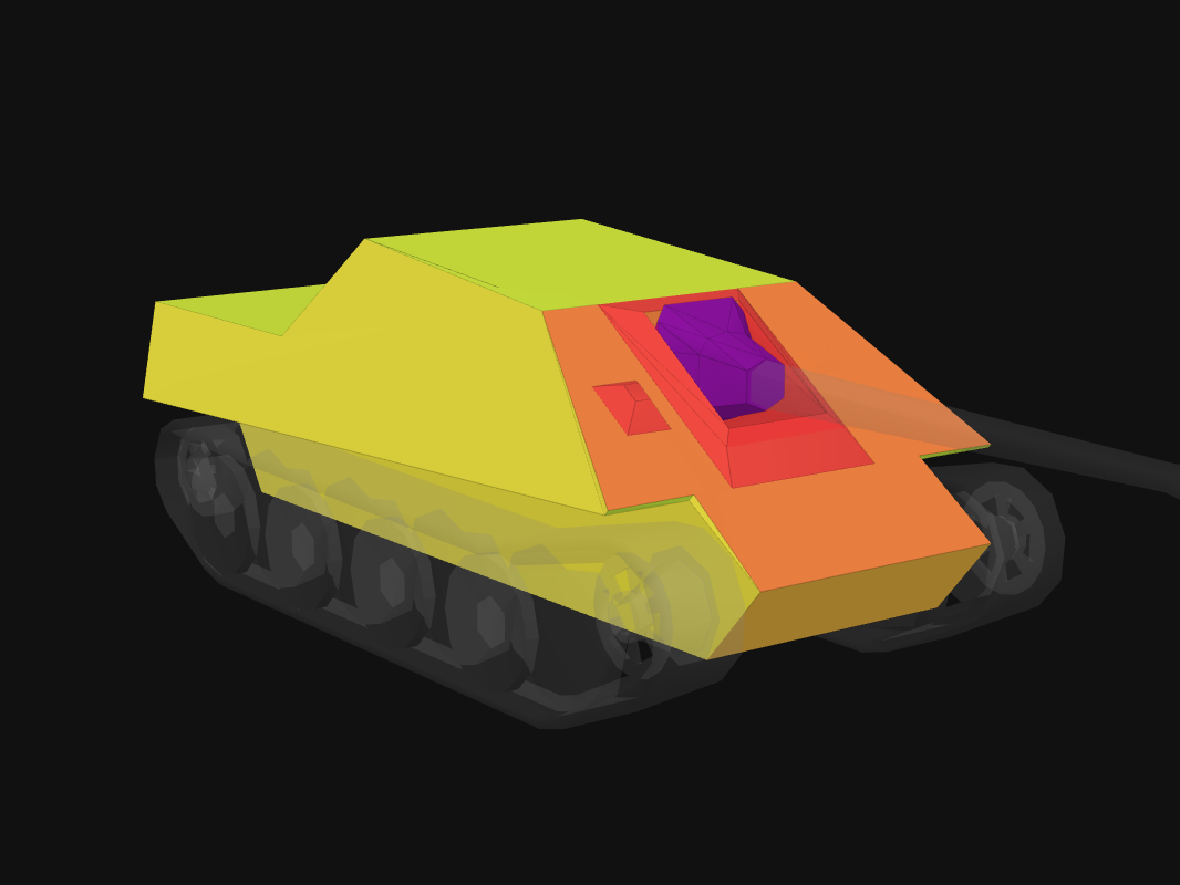 Front armor of JPanther in World of Tanks: Blitz
