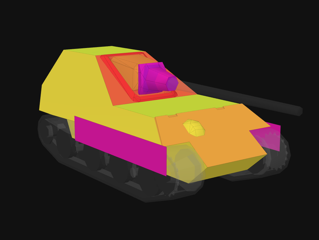 Front armor of JPanther II in World of Tanks: Blitz