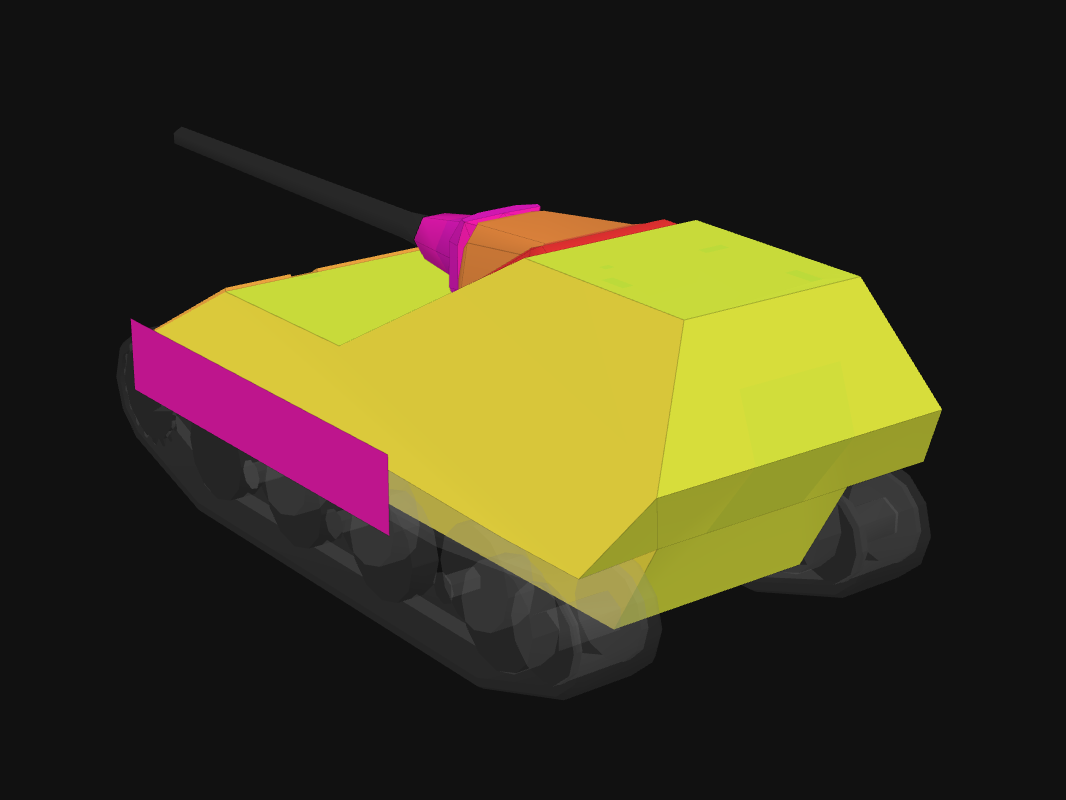 Rear armor of JPanther II in World of Tanks: Blitz