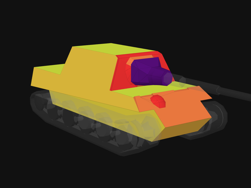 Front armor of Jagdtiger in World of Tanks: Blitz