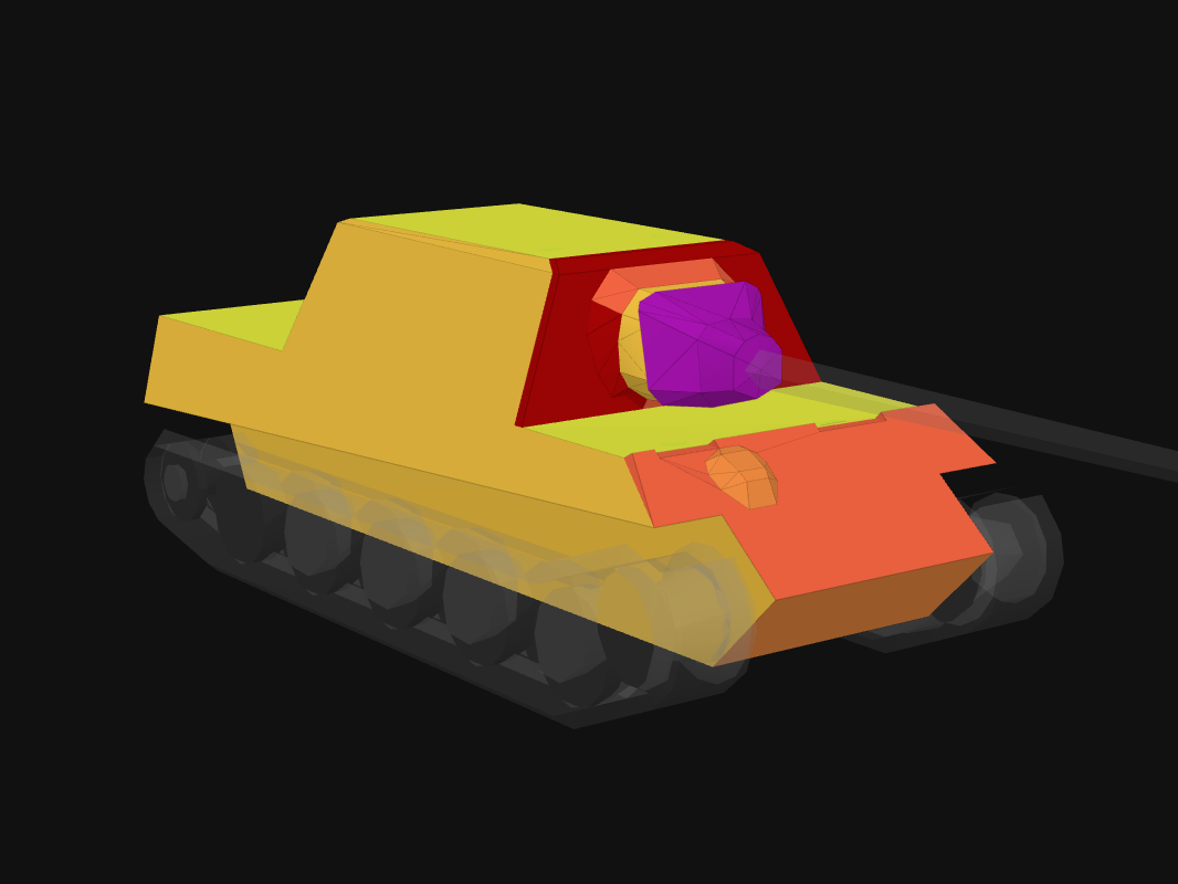 Front armor of JgTig.8,8 cm in World of Tanks: Blitz