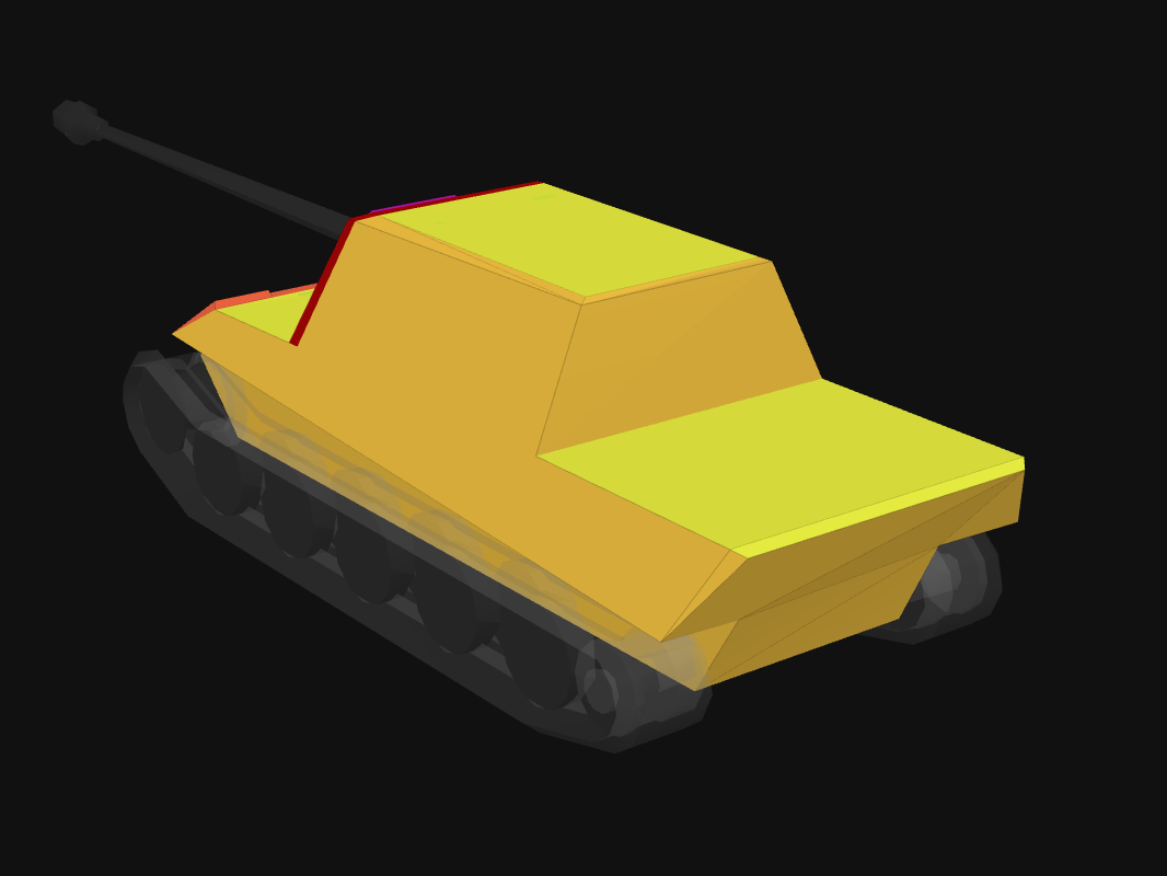 Rear armor of JgTig.8,8 cm (2015) in World of Tanks: Blitz
