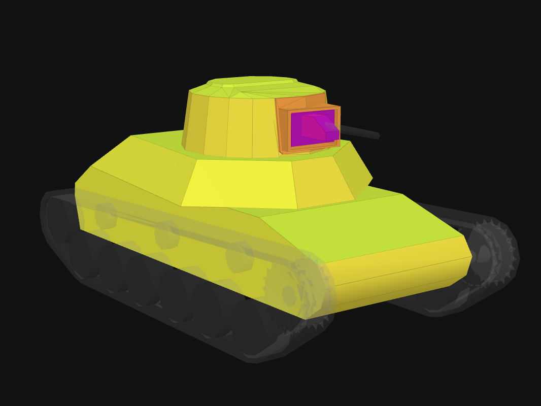 Лобовая броня Ke-Ni в World of Tanks: Blitz