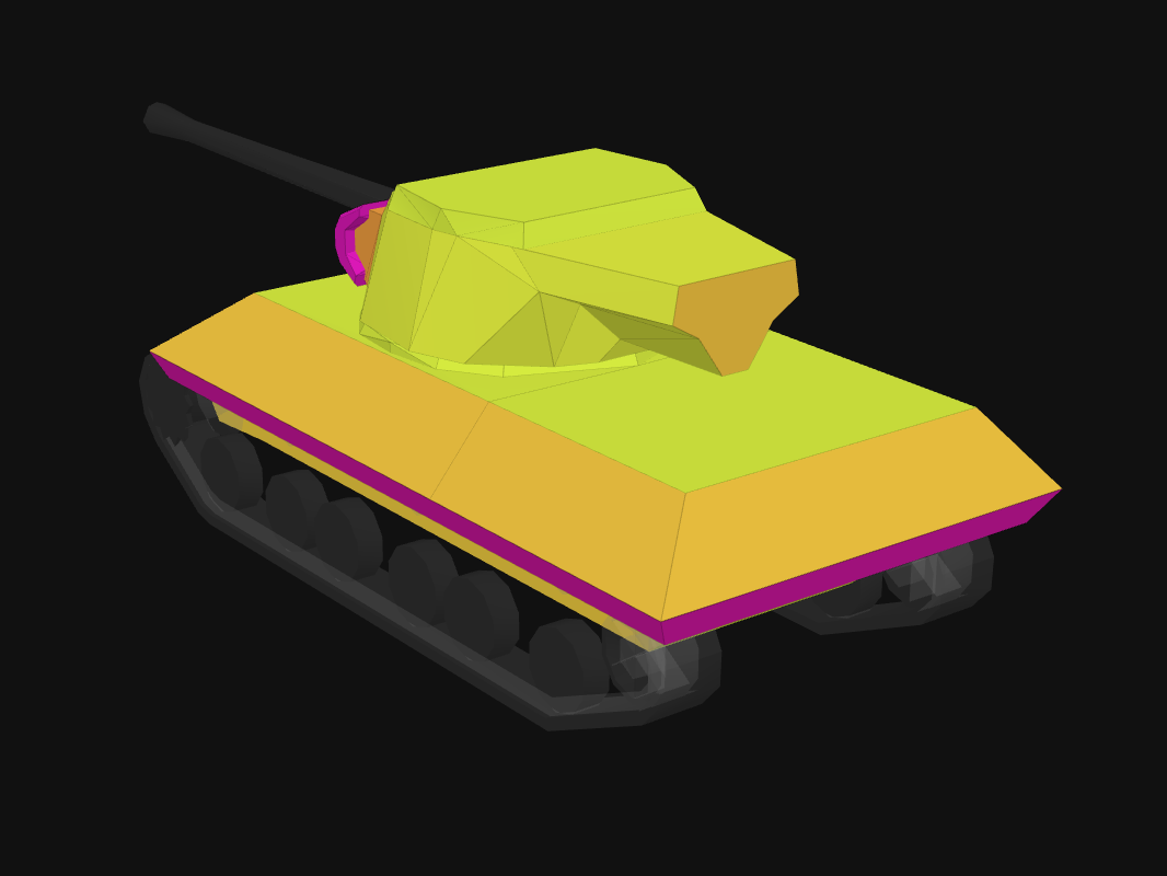 Rear armor of Jackson in World of Tanks: Blitz