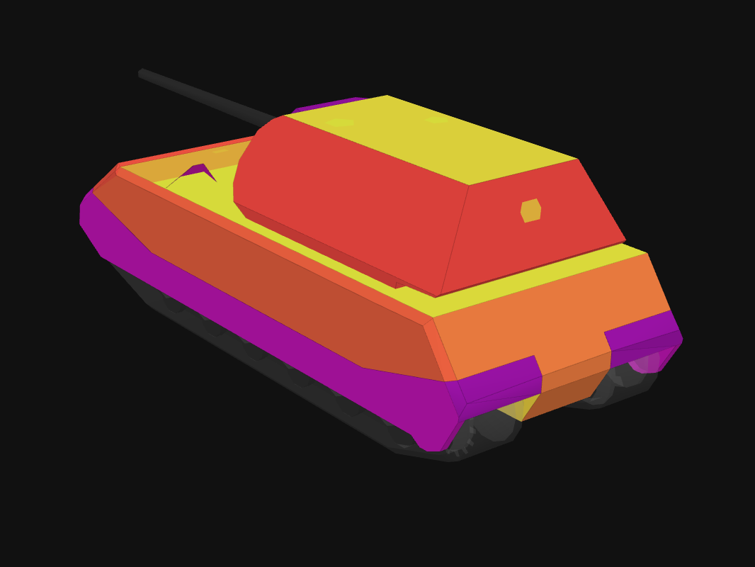 Rear armor of Maus in World of Tanks: Blitz