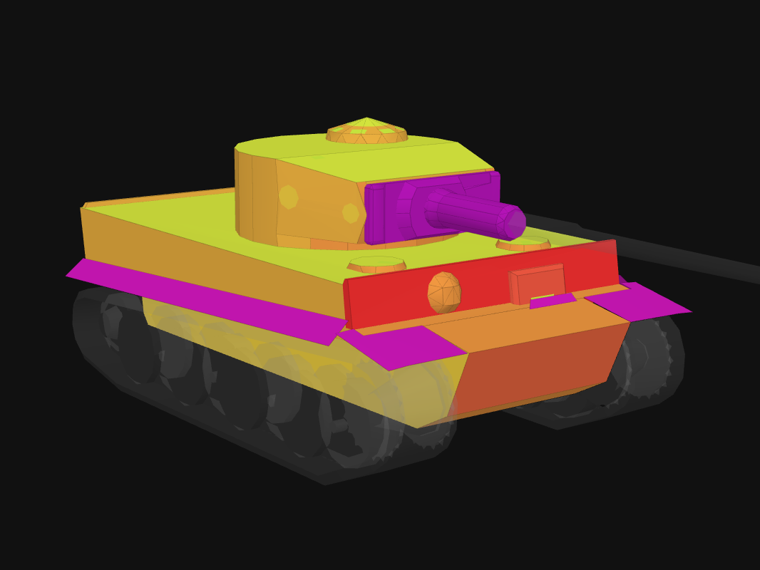 Front armor of Tiger I in World of Tanks: Blitz
