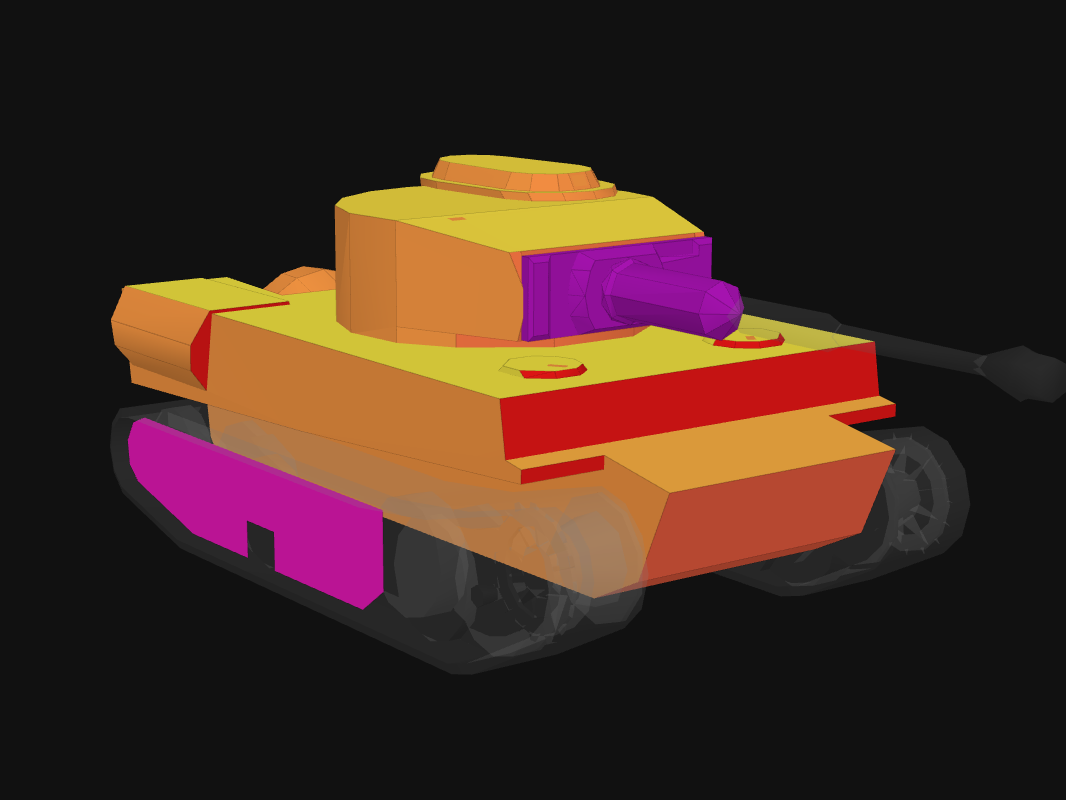 Front armor of Icebreaker in World of Tanks: Blitz