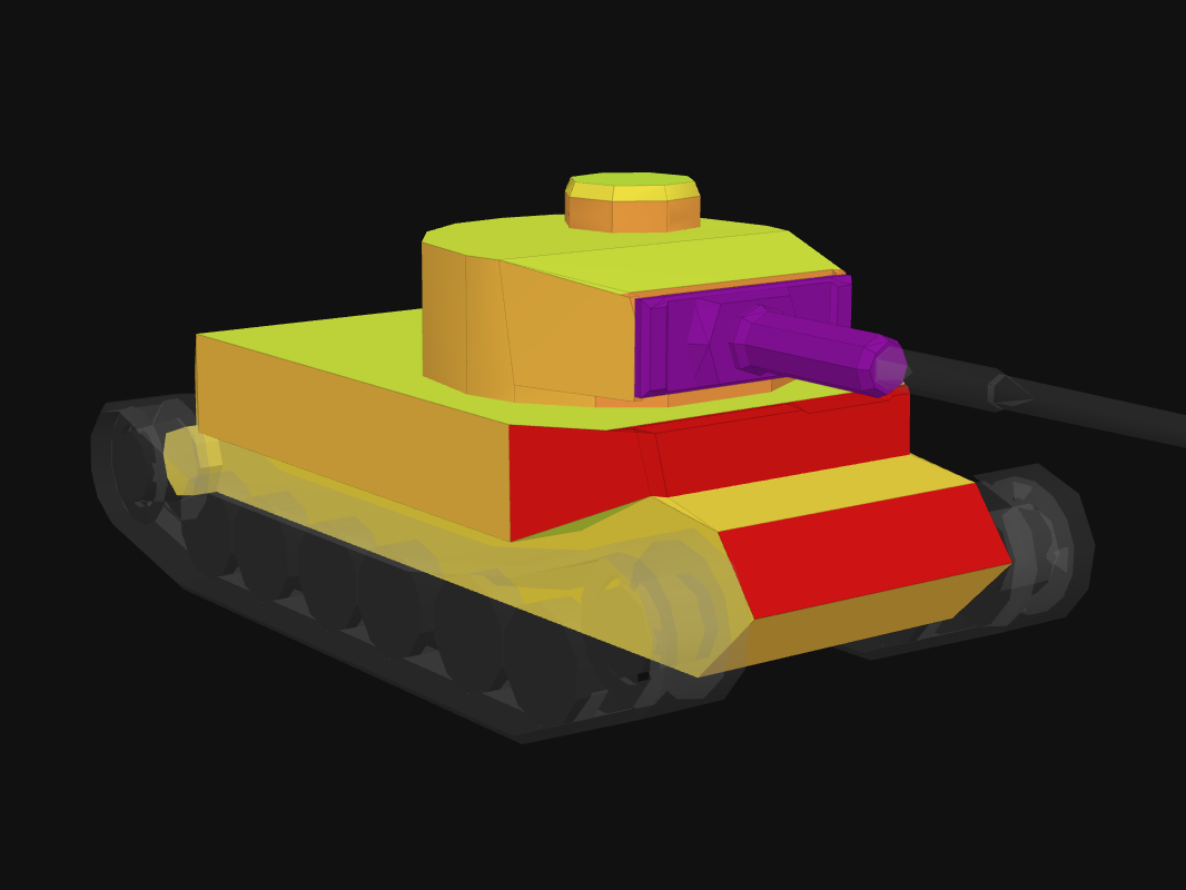 Front armor of Tiger (P) in World of Tanks: Blitz