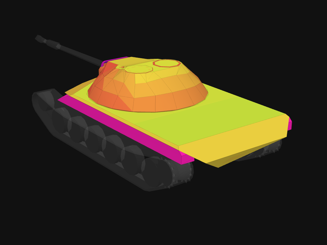 Rear armor of T-22 medium in World of Tanks: Blitz