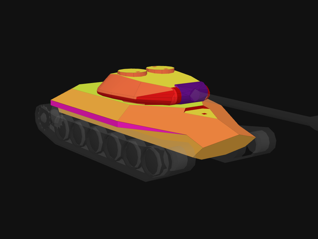 Front armor of Obj. 252U in World of Tanks: Blitz