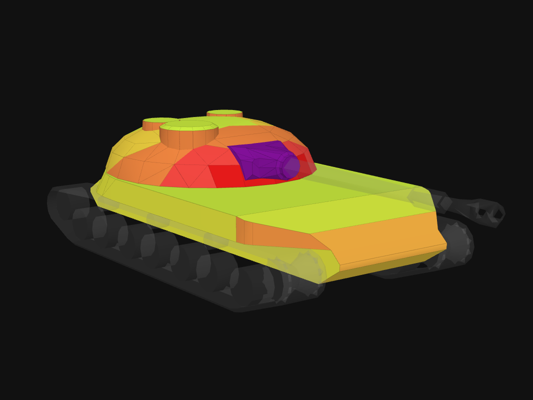 Front armor of STG in World of Tanks: Blitz