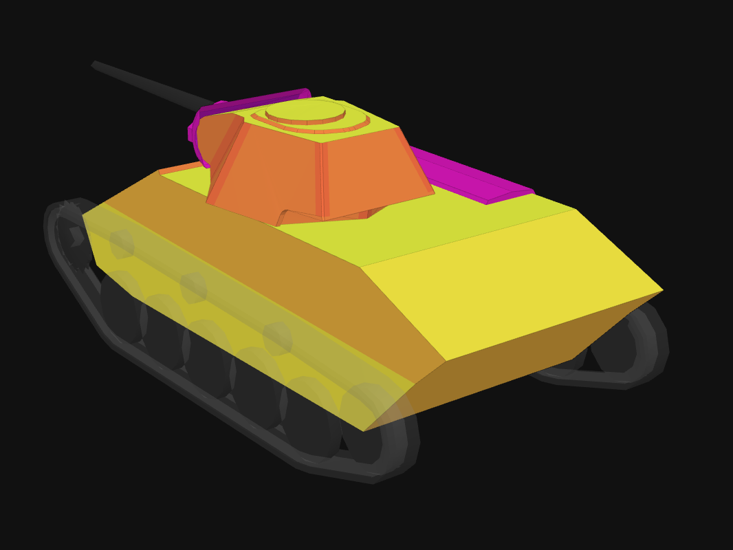 Rear armor of T-70/57 in World of Tanks: Blitz