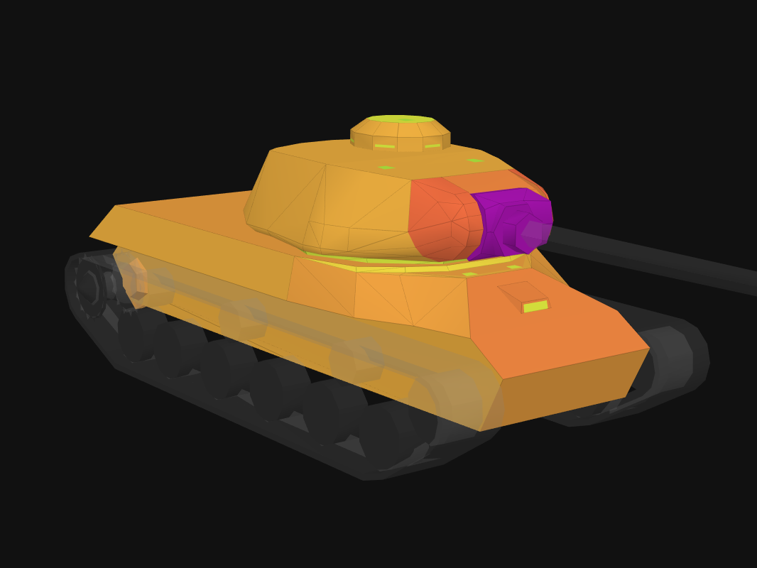 Front armor of IS-2 (1945) in World of Tanks: Blitz