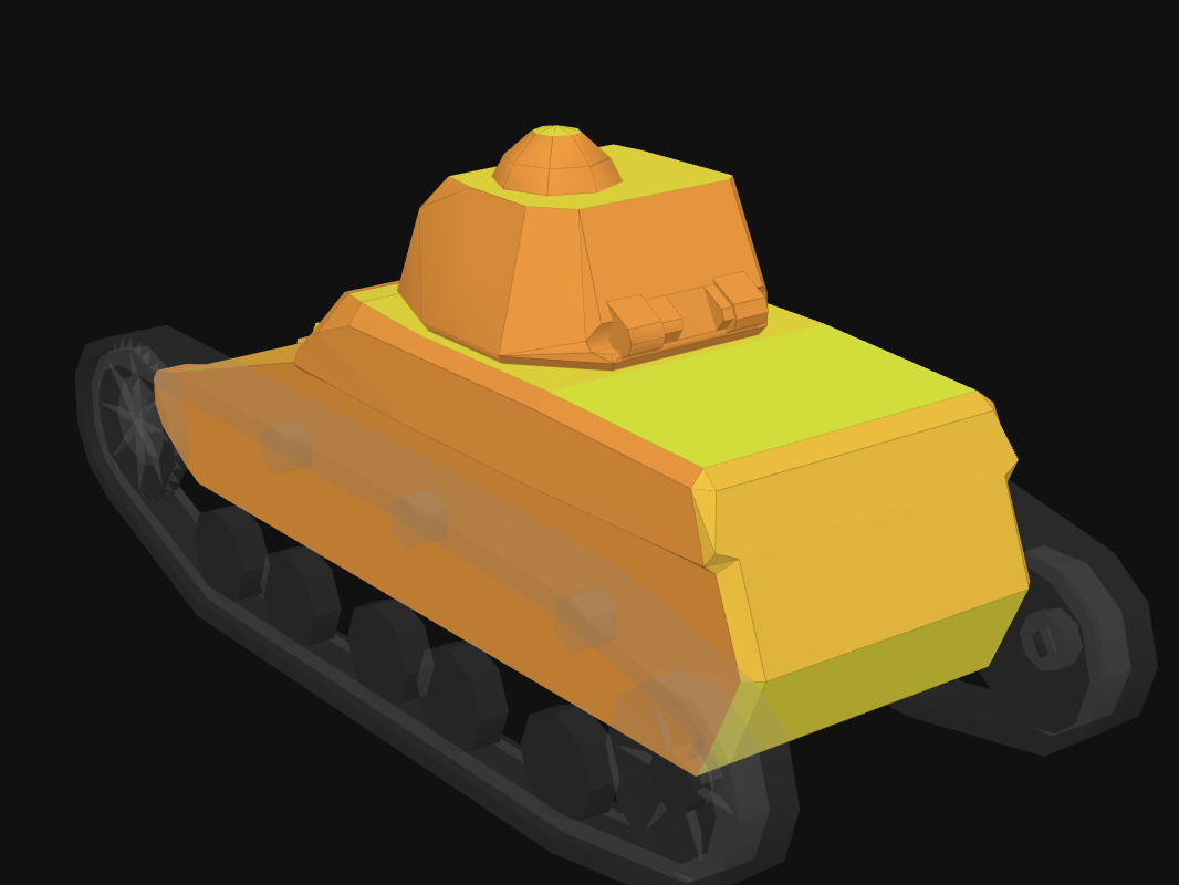 Rear armor of R35 in World of Tanks: Blitz