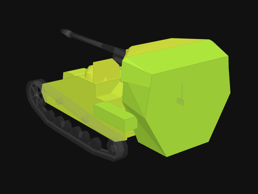 Rear armor of UE 57 in World of Tanks: Blitz
