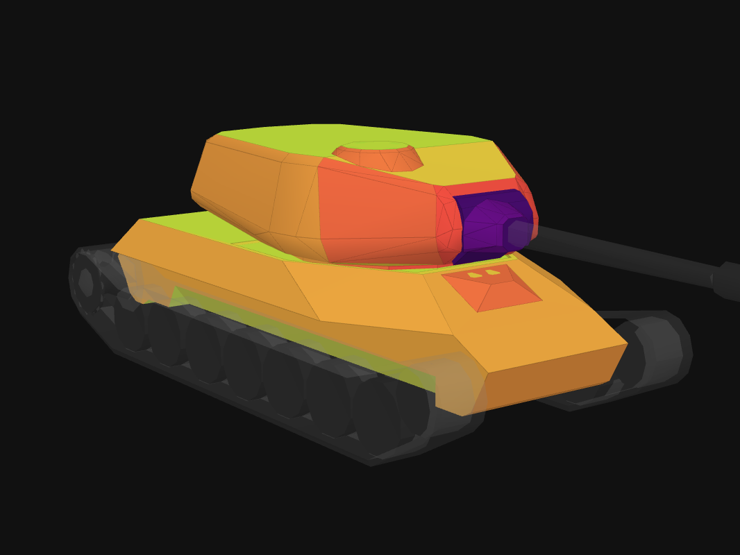 Front armor of ST-I in World of Tanks: Blitz