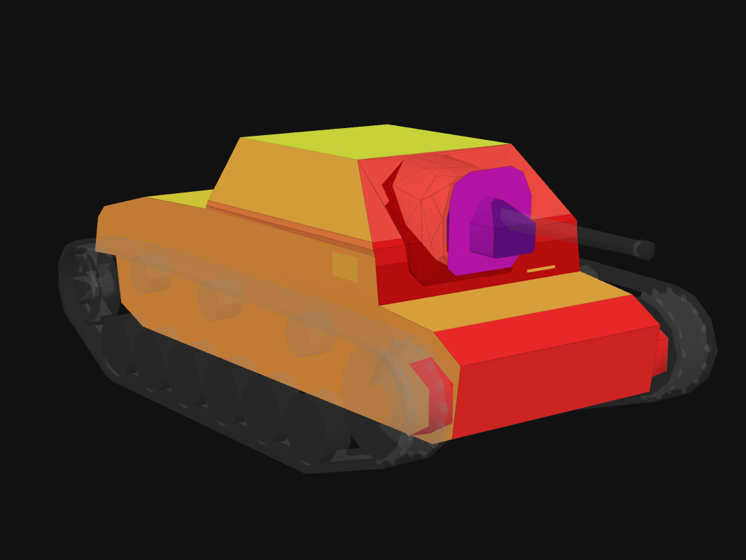 Front armor of SU-76I in World of Tanks: Blitz