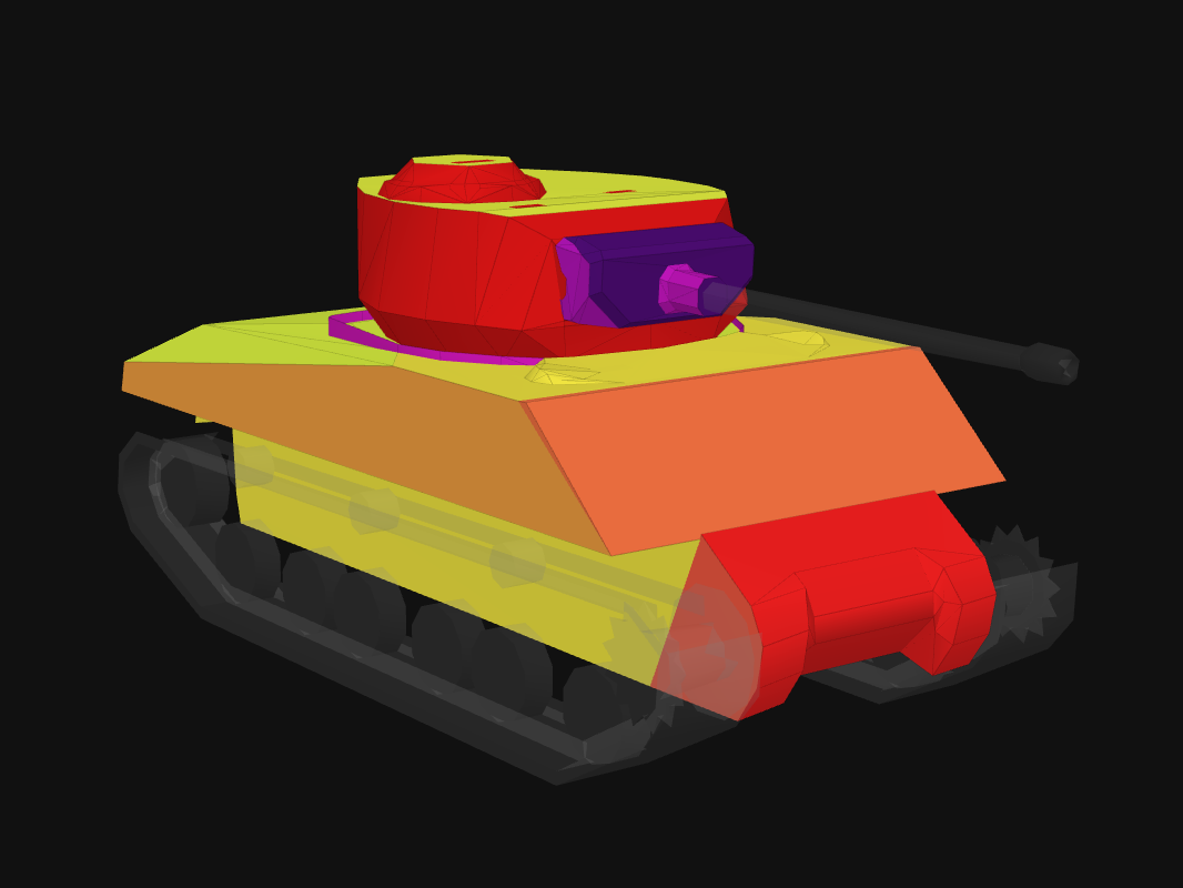 Front armor of M4A3E2 in World of Tanks: Blitz