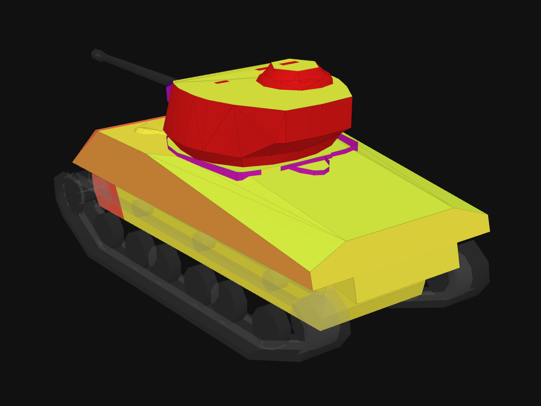 Rear armor of M4A3E2 in World of Tanks: Blitz