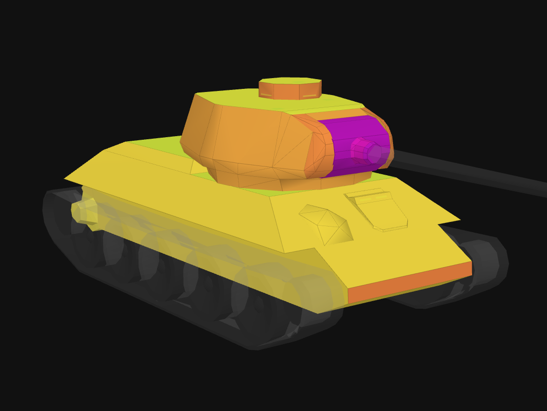 Front armor of T-34-85 in World of Tanks: Blitz