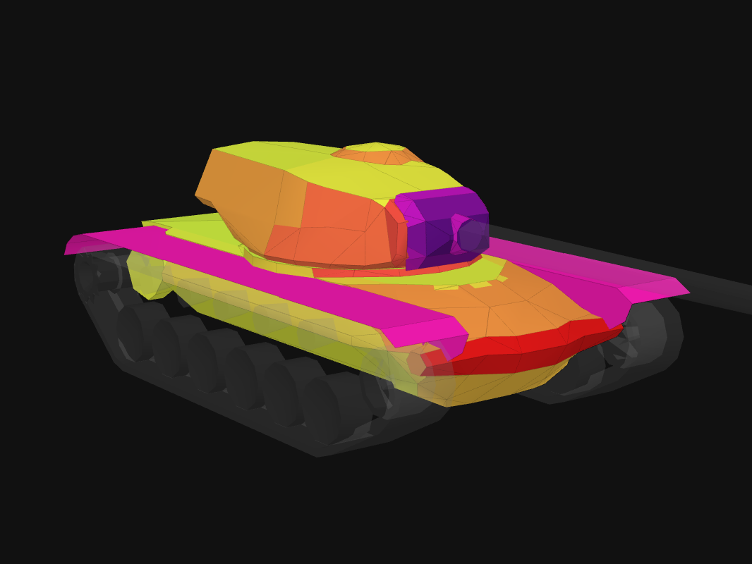 Front armor of T110E5 in World of Tanks: Blitz