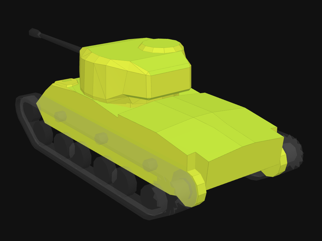 Rear armor of T21 in World of Tanks: Blitz