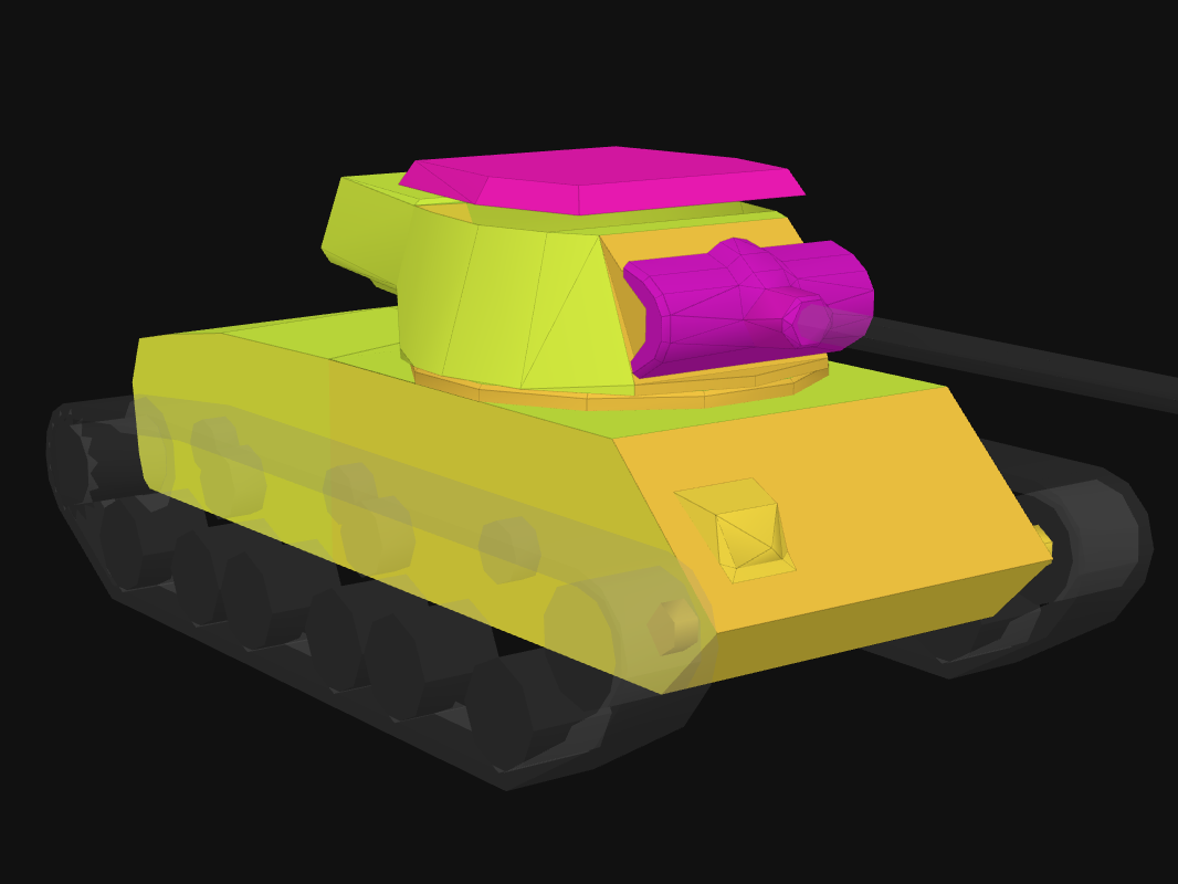 Front armor of T25/2 in World of Tanks: Blitz