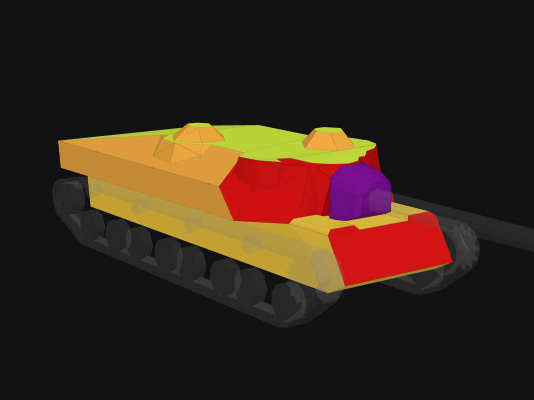 Front armor of T28 in World of Tanks: Blitz