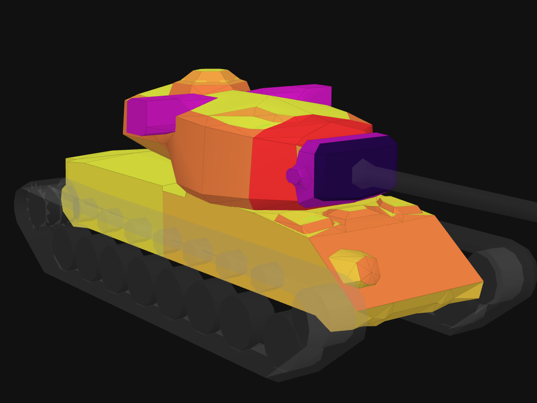 Front armor of T29 in World of Tanks: Blitz