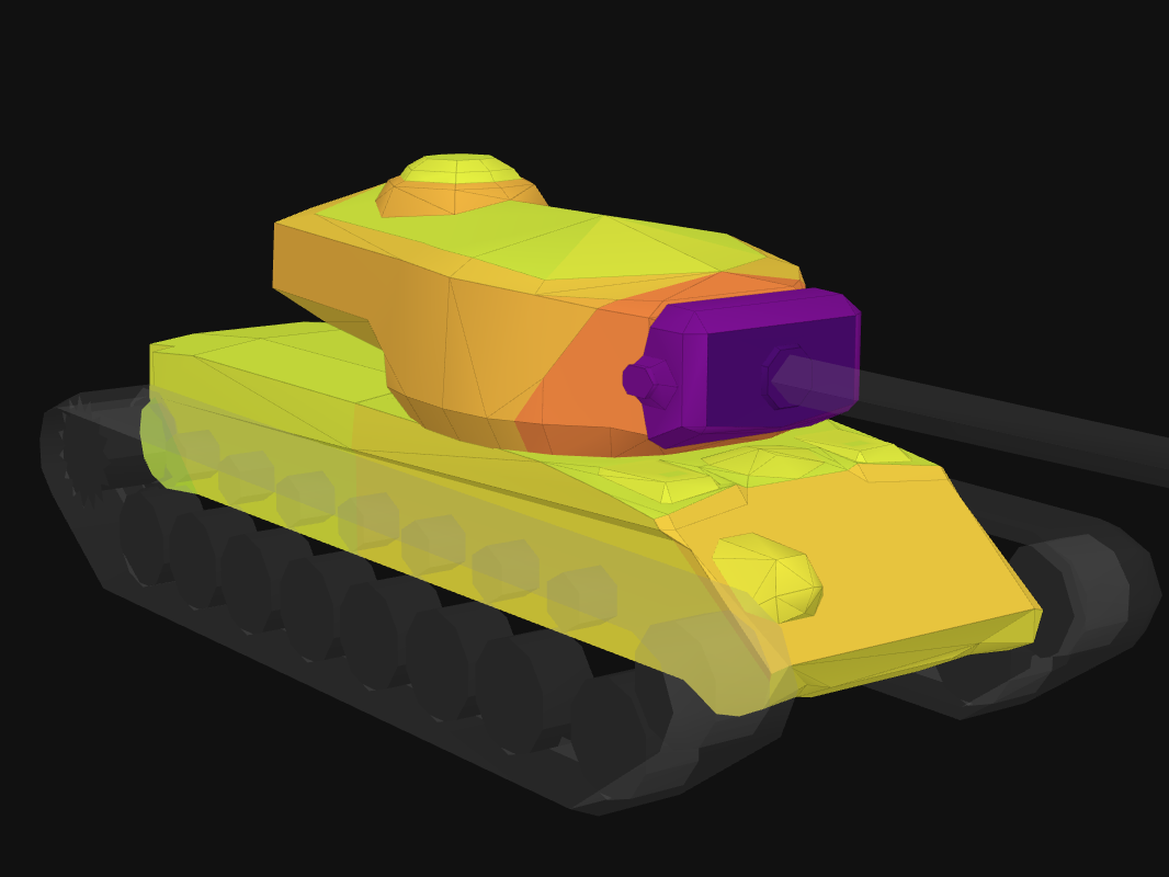Front armor of T30 in World of Tanks: Blitz